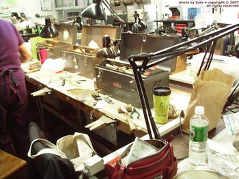 Jewelry making classroom at the DeCordova.