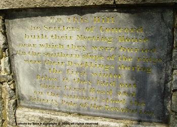 Hill Burying Ground plaque.