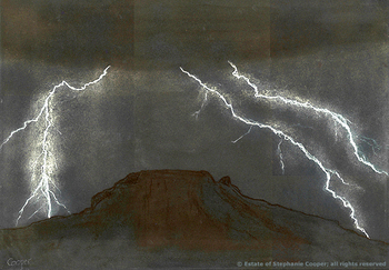 Lightning, by Stephanie Cooper; copyright Estate of Stephanie Cooper; all rights reserved.