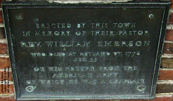 William Emerson's first epitaph.