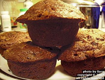 Muffin stack triumphant.