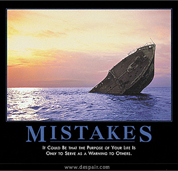 'Mistakes' poster by Despair, Inc.