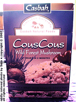 Casbah organic Wild Forest Mushroom couscous box.