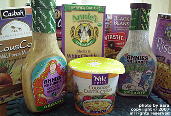 Some all-natural convenience foods from my pantry and fridge.