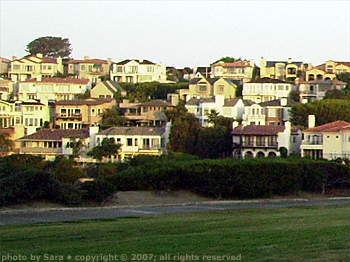 Dana Point houses.