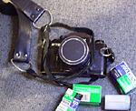 Contax with Fuji Provia F100 film.