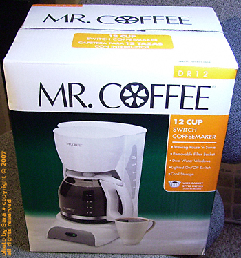 Mr. Coffee has come again.