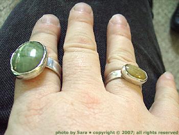 Rings on my fingers.