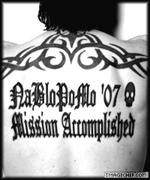 Mission Accomplished tattoo.