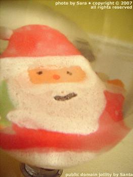 Big Santa is very, very jolly!