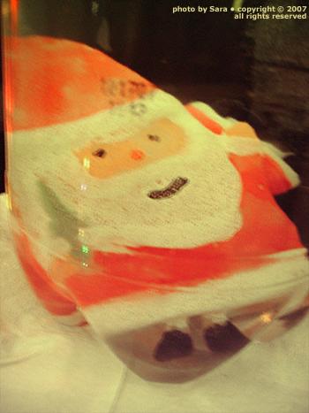 The face of a hating Santa?