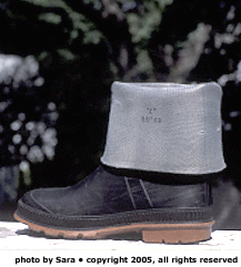 Example Photo 3:  Boot with cuffed shaft.