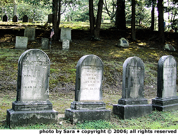 Some graves at Sleepy Hollow Cemetery.