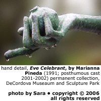 Hand detail, Eve Celebrant, by Marianna Pineda.