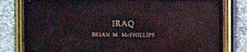 Iraq memorial, so far.