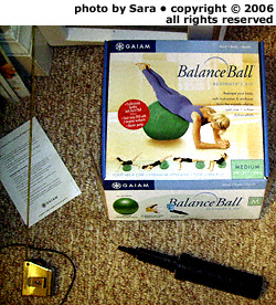 Beginner's balance ball kit.