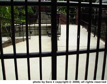 Caged ramp.