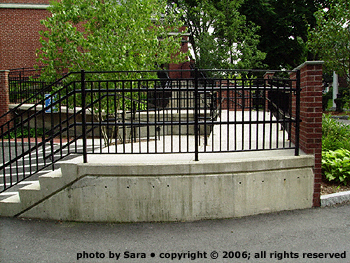 Handicapped access ramp at Middlesex Bank.