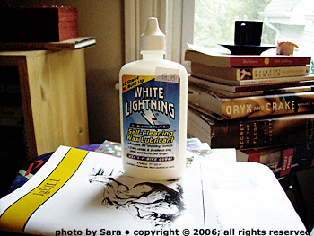 White Lightning, 4 oz. bottle.
